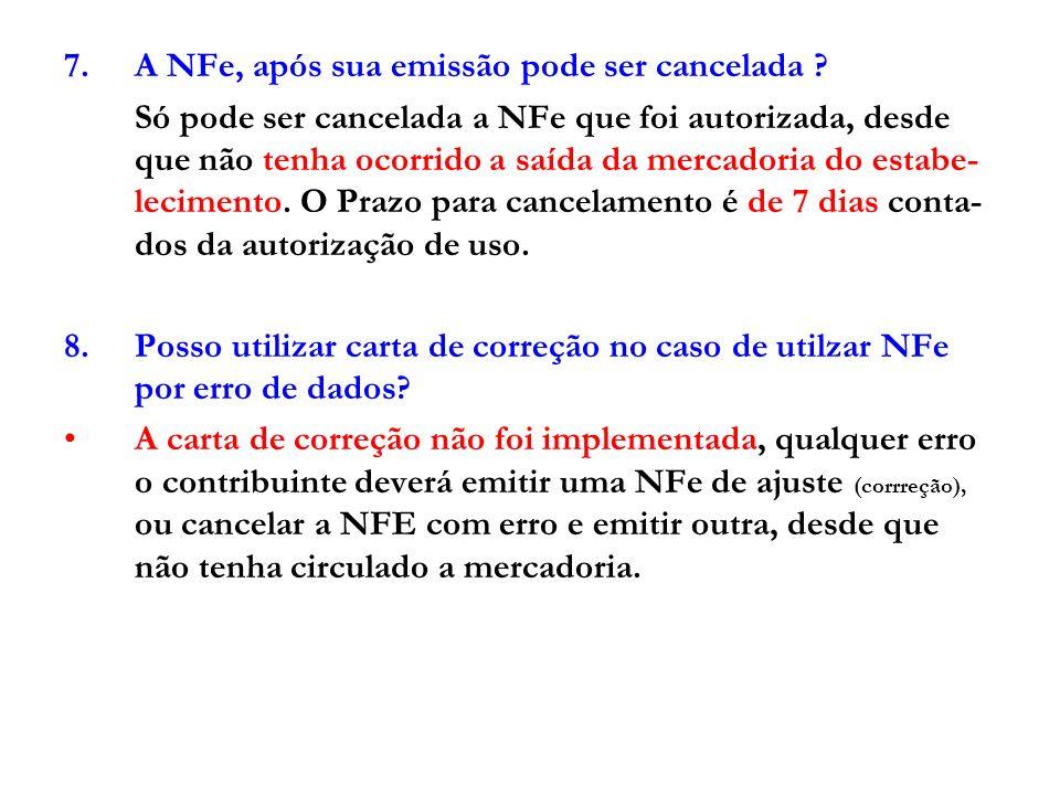 9.Como proceder no caso de inutilização de número de NFe quando da emissão.