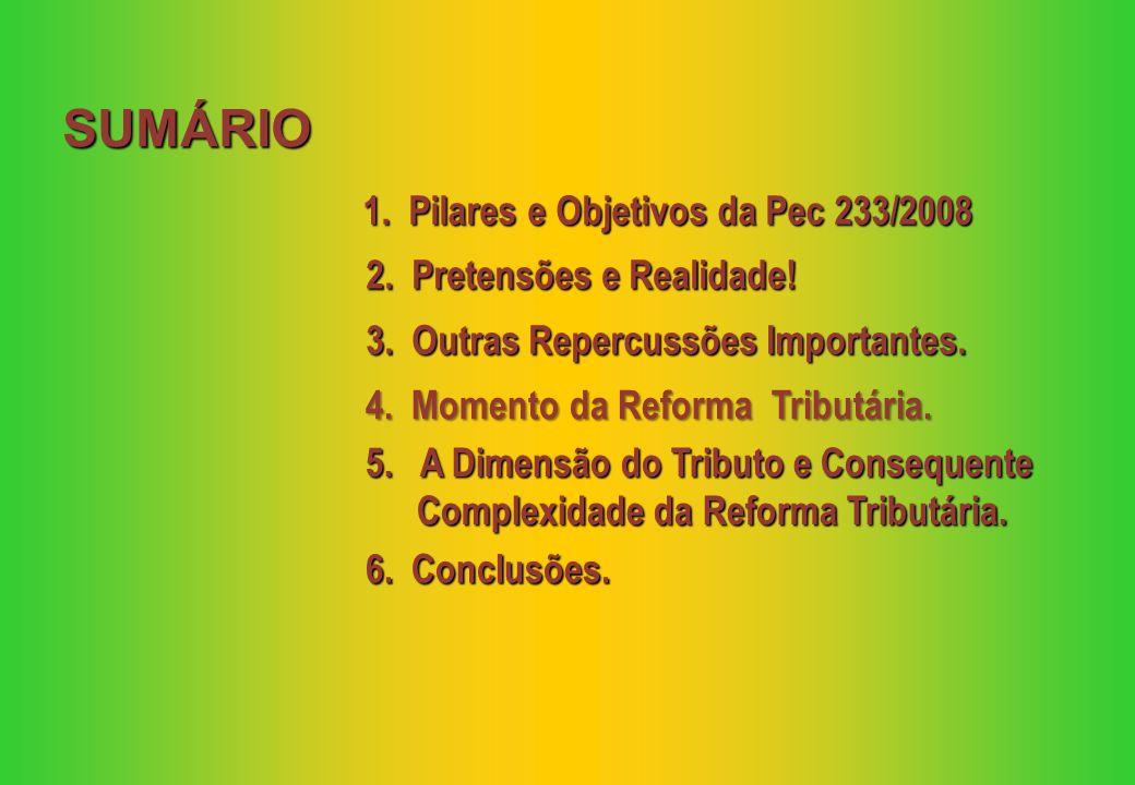 1. Pilares e Objetivos da Pec 233/2008 5.