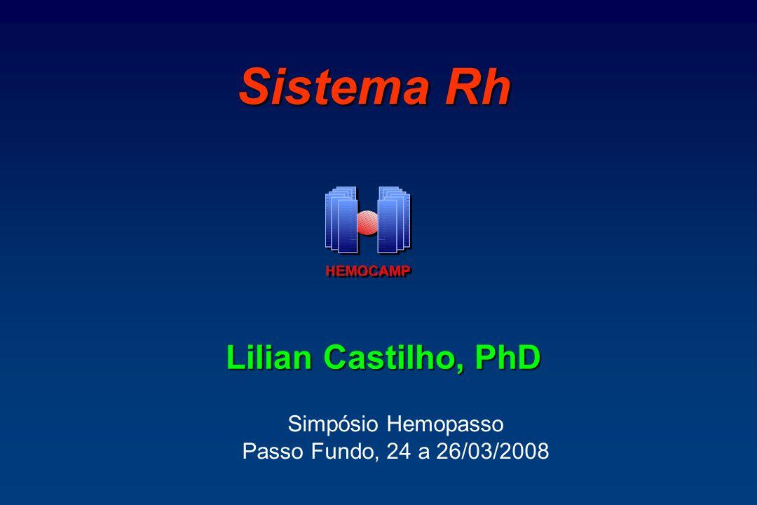 Proteína D Parcial RhD: 10.000 a 25.000 sítios/hemácias D parcial: densidade antigênica: 500 a 25.000 sítios/hemácia D Cat VI e DAR: podem ser tipados como RhD-negativo