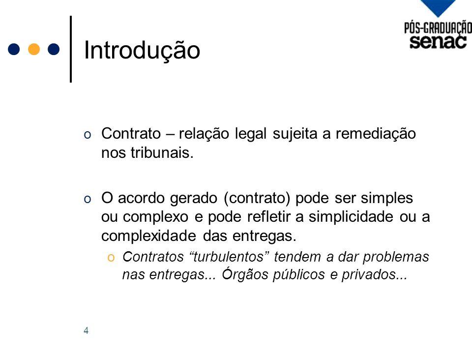 Introdução o Contrato – relação legal sujeita a remediação nos tribunais.