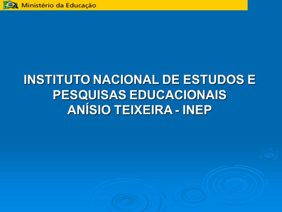 INSTITUTO NACIONAL DE ESTUDOS E PESQUISAS EDUCACIONAIS ANÍSIO TEIXEIRA - INEP