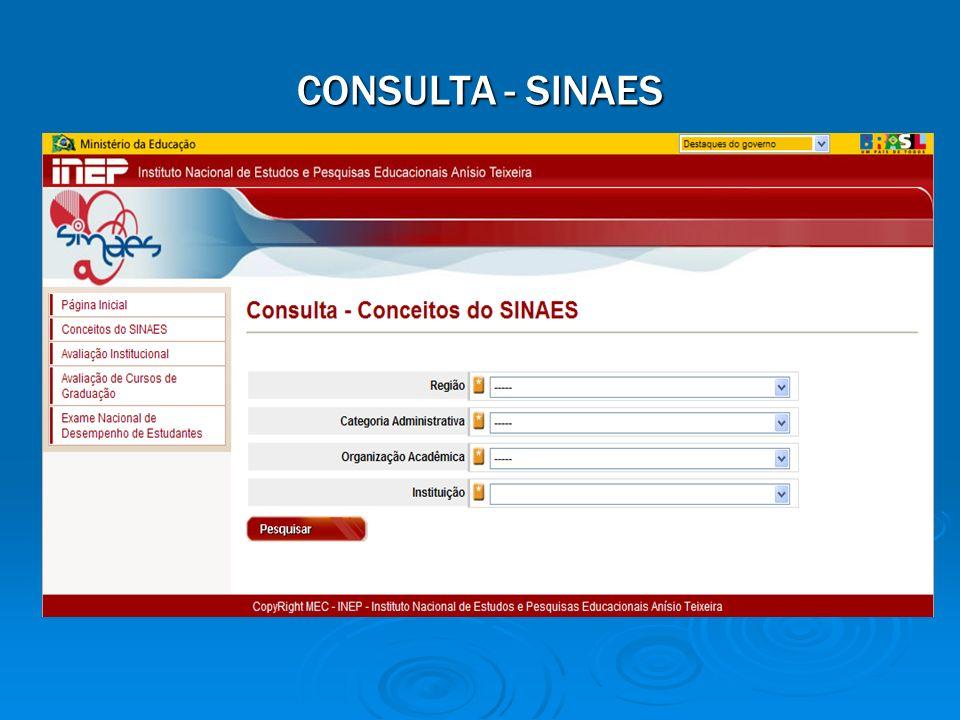 CONSULTA - SINAES