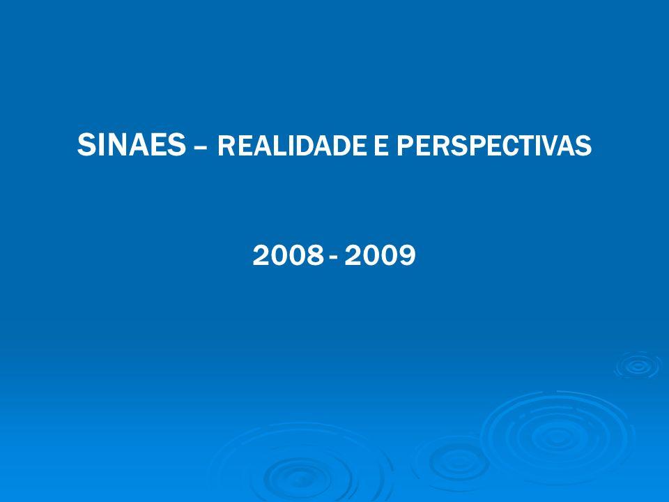 SINAES – REALIDADE E PERSPECTIVAS 2008 - 2009