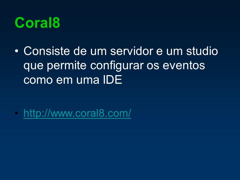 Coral8 Consiste de um servidor e um studio que permite configurar os eventos como em uma IDE http://www.coral8.com/