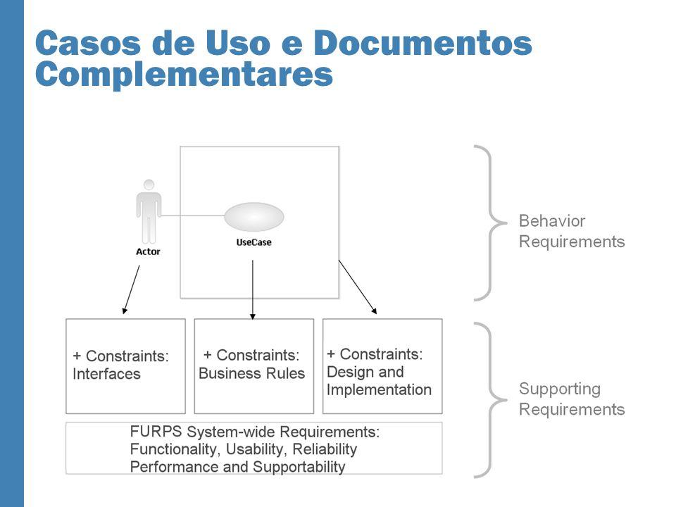 Casos de Uso e Documentos Complementares