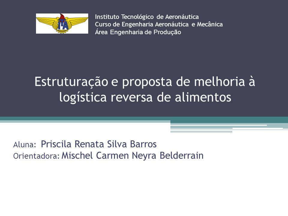 Estruturação e proposta de melhoria à logística reversa de alimentos Instituto Tecnológico de Aeronáutica Curso de Engenharia Aeronáutica e Mecânica Á