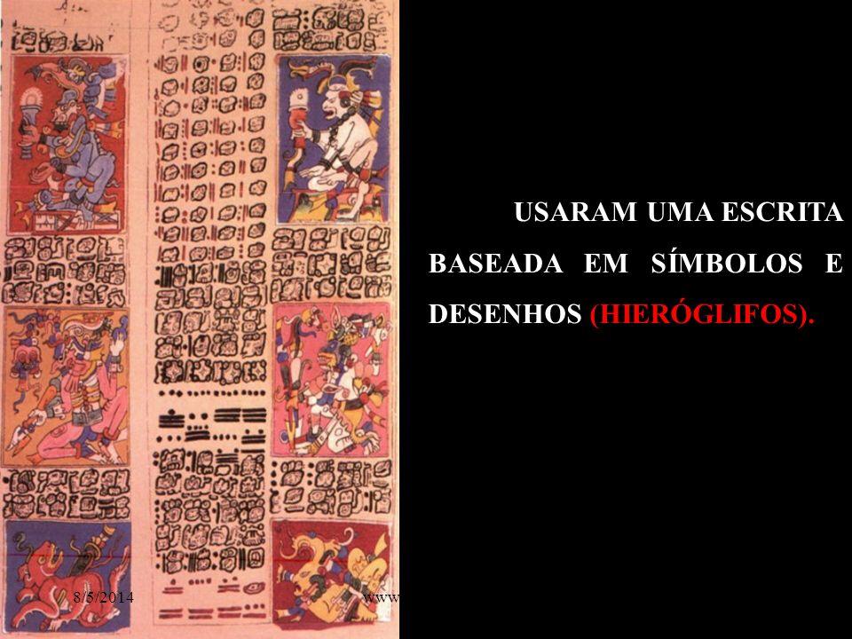 USARAM UMA ESCRITA BASEADA EM SÍMBOLOS E DESENHOS (HIERÓGLIFOS). 8/5/201410www.nilson.pro.br