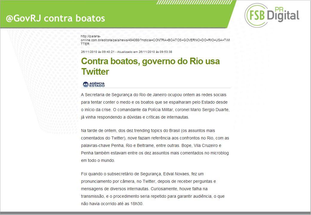 @GovRJ contra boatos http://parana- online.com.br/editoria/pais/news/494056/ noticia=CONTRA+BOATOS+GOVERNO+DO+RIO+USA+TWI TTER