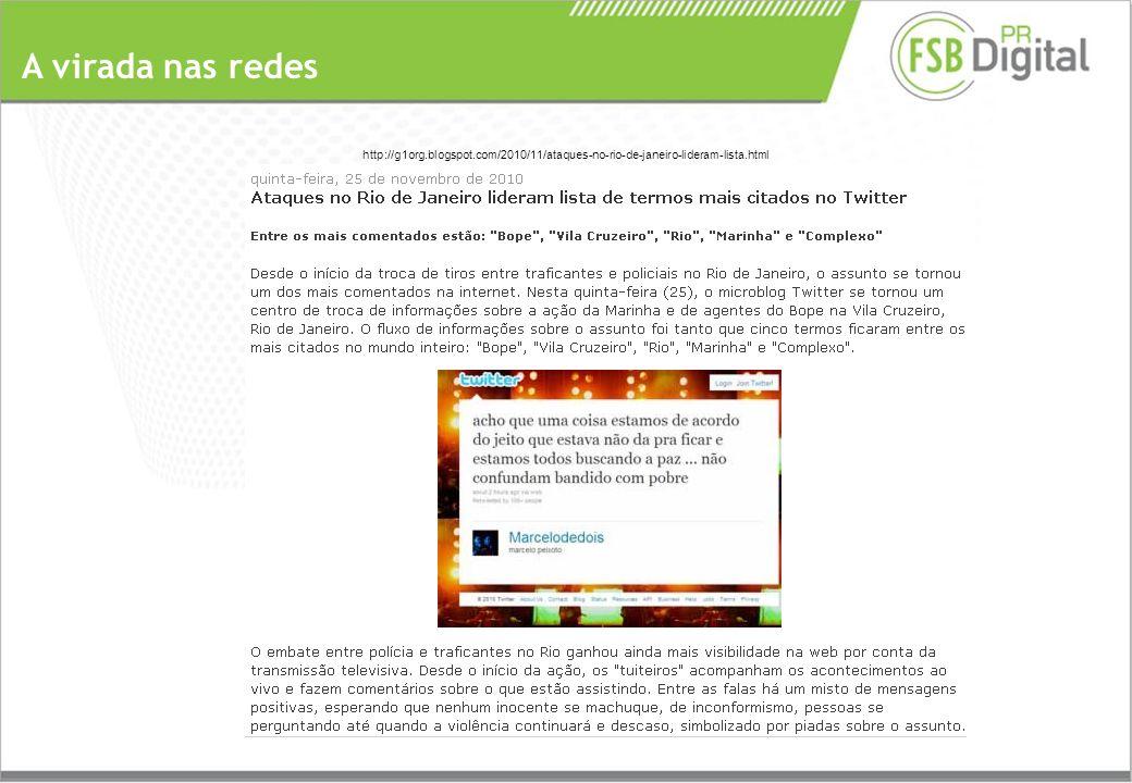 A virada nas redes http://g1org.blogspot.com/2010/11/ataques-no-rio-de-janeiro-lideram-lista.html