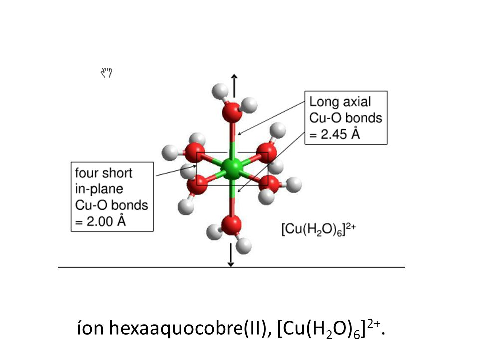 íon hexaaquocobre(II), [Cu(H 2 O) 6 ] 2+.