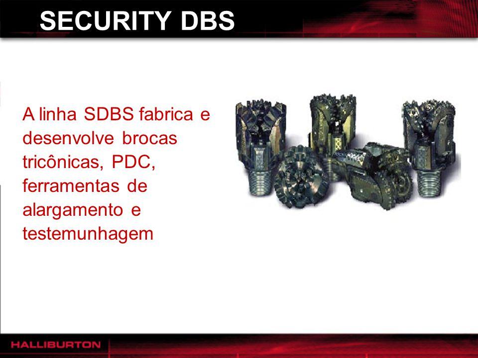 SECURITY DBS A linha SDBS fabrica e desenvolve brocas tricônicas, PDC, ferramentas de alargamento e testemunhagem