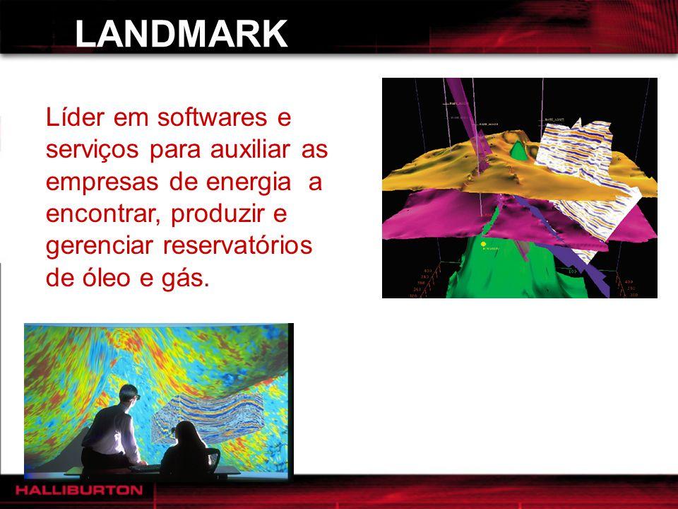 LANDMARK Líder em softwares e serviços para auxiliar as empresas de energia a encontrar, produzir e gerenciar reservatórios de óleo e gás. DIVISÕES: S