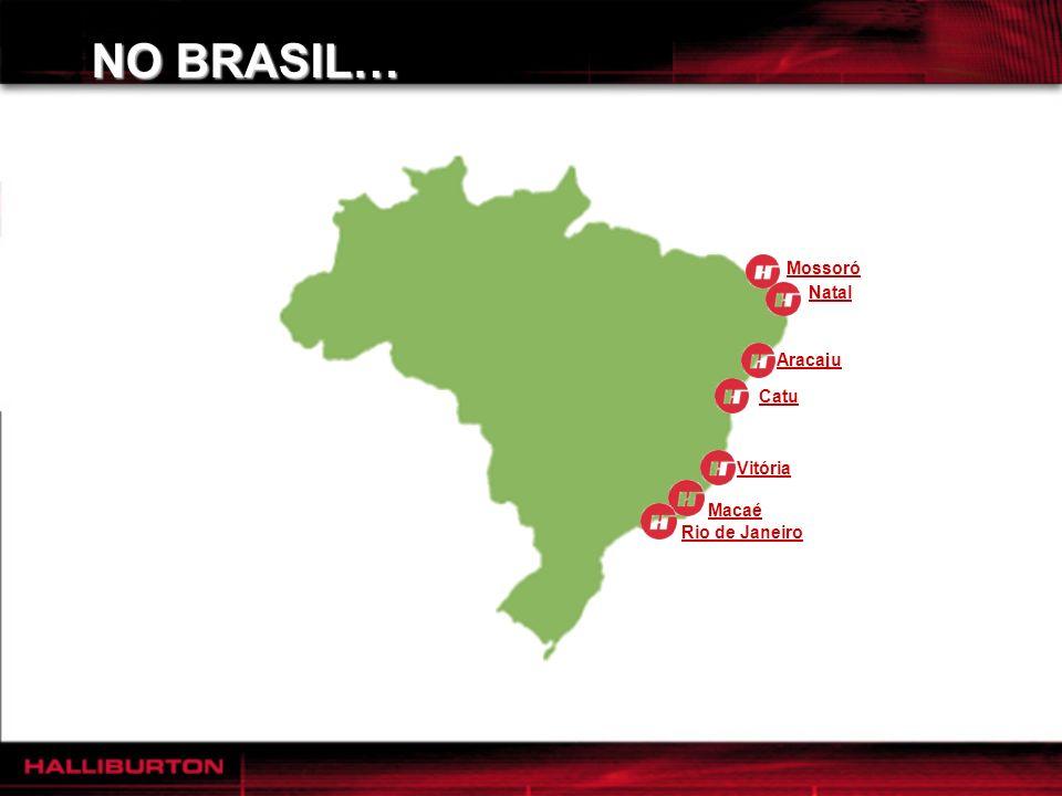 NO BRASIL… Rio de Janeiro Macaé Vitória Catu Mossoró Natal Atualmente com 1.170 funcionários Presente em 5 estados: RJ, ES, BA, SE e RN. Aracaju