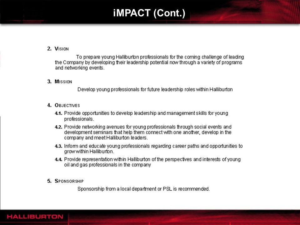 iMPACT (Cont.)