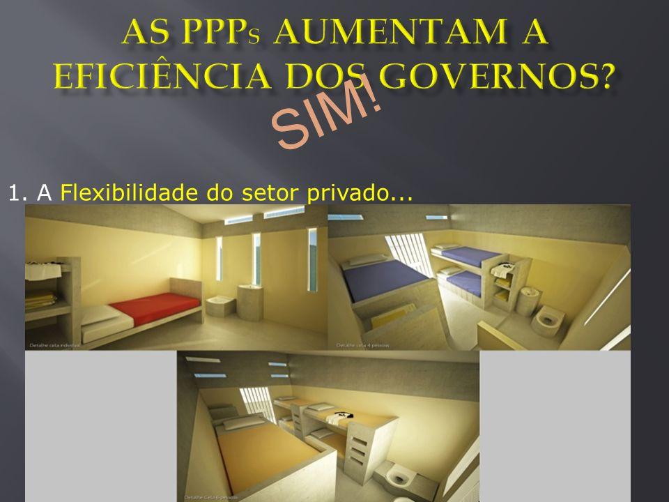 1. A Flexibilidade do setor privado... SIM!
