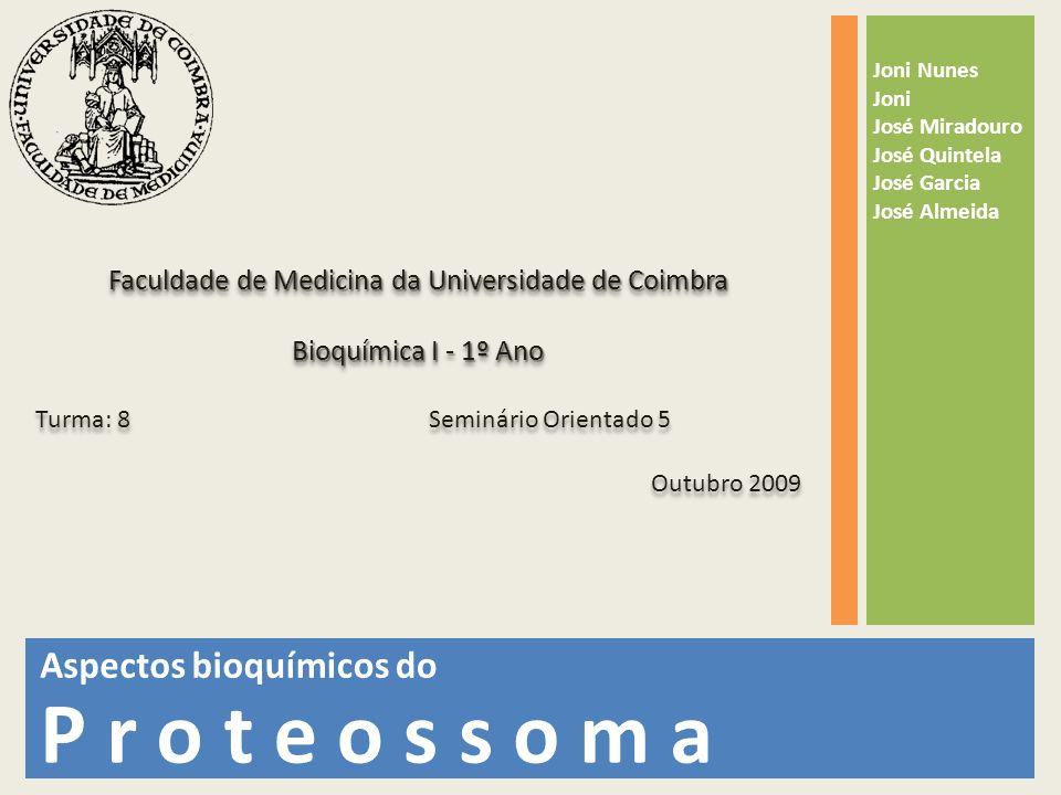Faculdade de Medicina da Universidade de Coimbra Bioquímica I - 1º Ano Turma: 8 Seminário Orientado 5 Outubro 2009 Faculdade de Medicina da Universida