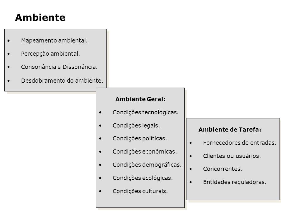 Ambiente Mapeamento ambiental. Percepção ambiental. Consonância e Dissonância. Desdobramento do ambiente. Mapeamento ambiental. Percepção ambiental. C