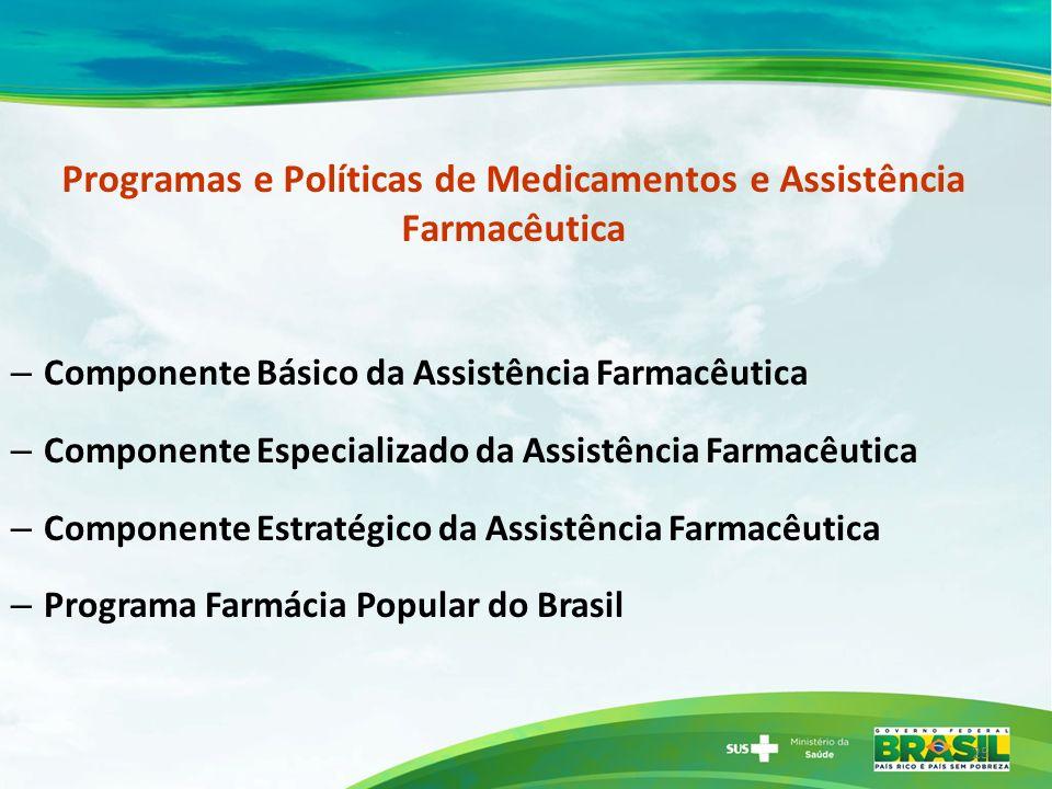 25 – Componente Básico da Assistência Farmacêutica – Componente Especializado da Assistência Farmacêutica – Componente Estratégico da Assistência Farm