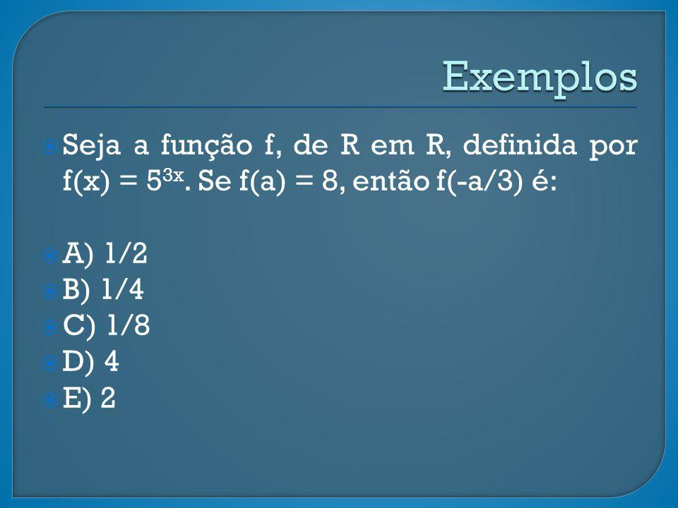 Seja a função f, de R em R, definida por f(x) = 5 3x.