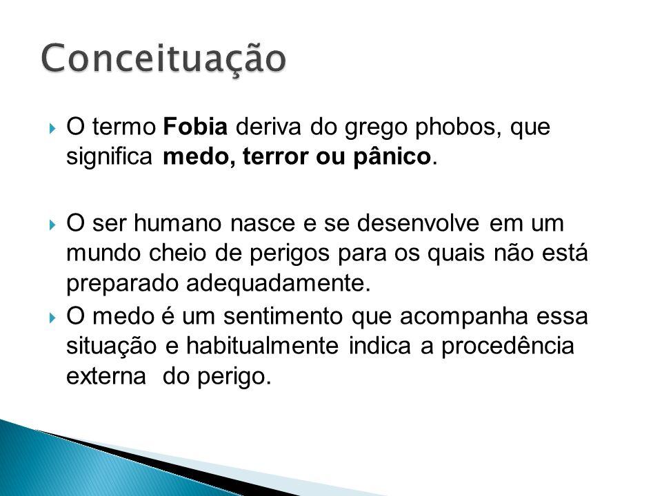 O termo Fobia deriva do grego phobos, que significa medo, terror ou pânico. O ser humano nasce e se desenvolve em um mundo cheio de perigos para os qu