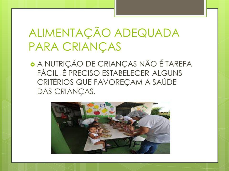 O DEVER DO ADULTO NA ALIMENTAÇÃO INFANTIL OS ADULTOS DEVEM INCENTIVAR BONS HÁBITOS ALIMENTARES PARA AS CRIANÇAS.