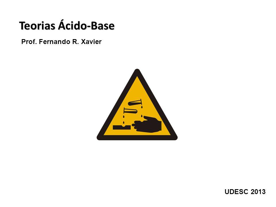 Teoria ácido-base de Arrhenius (1884) Toda espécie química que, em contato com água, gera íons H + é considerada um ácido.