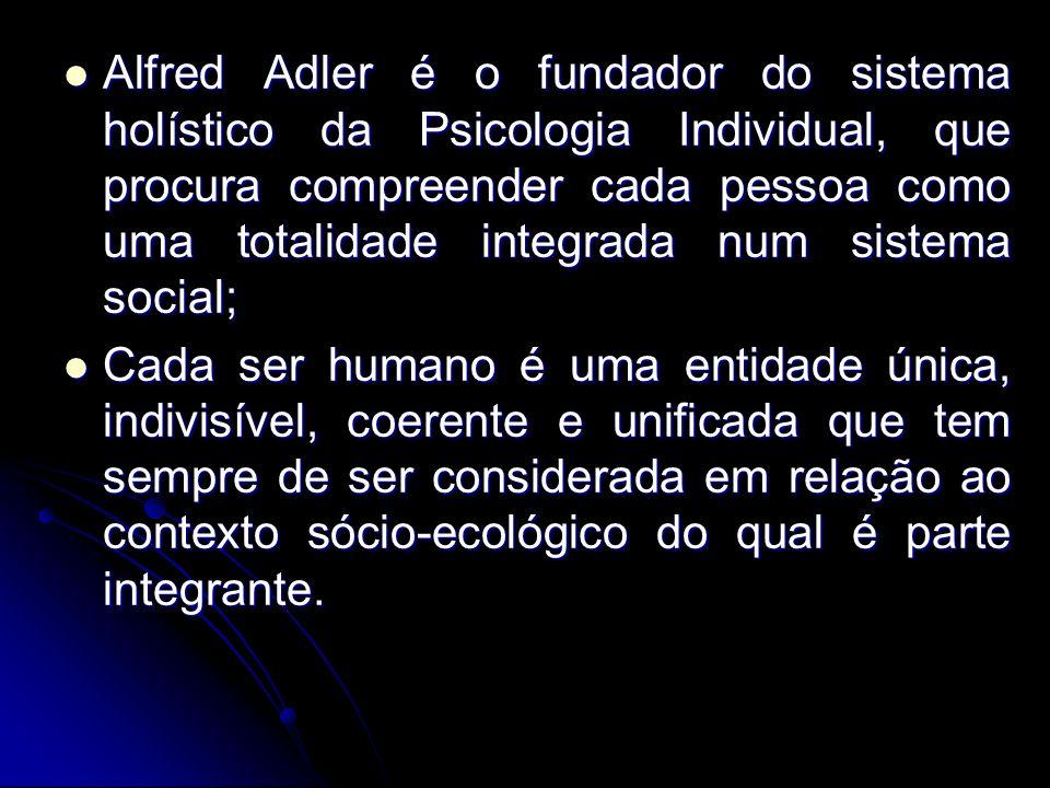 Alfred Adler é o fundador do sistema holístico da Psicologia Individual, que procura compreender cada pessoa como uma totalidade integrada num sistema