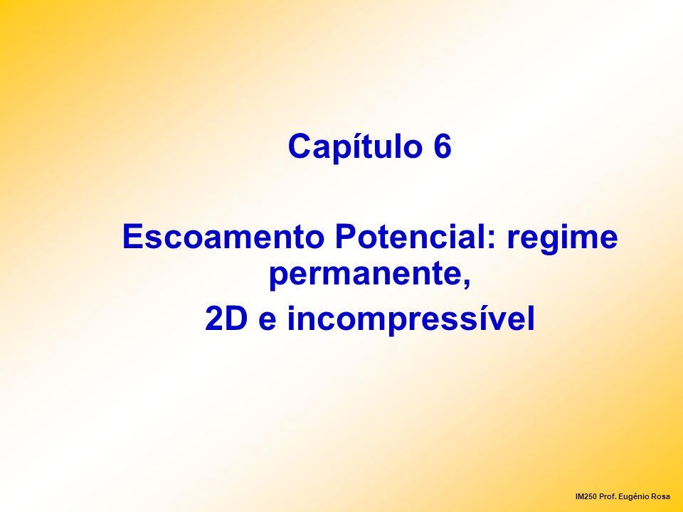 IM250 Prof. Eugênio Rosa Capítulo 6 Escoamento Potencial: regime permanente, 2D e incompressível