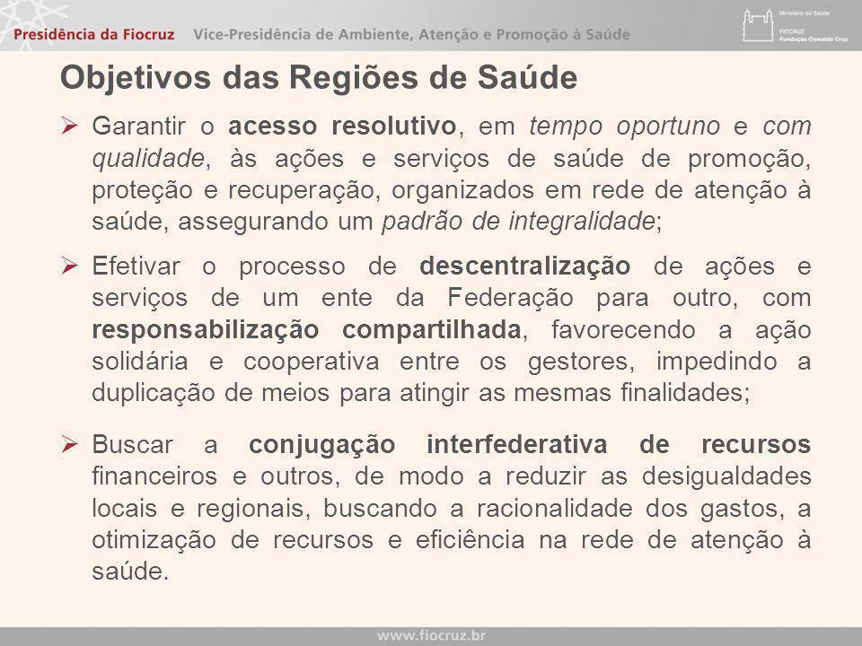 Dec 7508 - CAPÍTULO II - DA ORGANIZAÇÃO DO SUS Art. 3º - O SUS é constituído pela conjugação das ações e serviços de promoção, proteção e recuperação