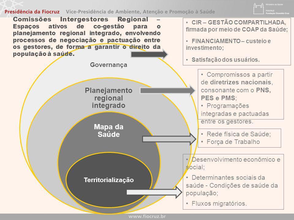 Objetivos das Regiões de Saúde Garantir o acesso resolutivo, em tempo oportuno e com qualidade, às ações e serviços de saúde de promoção, proteção e r