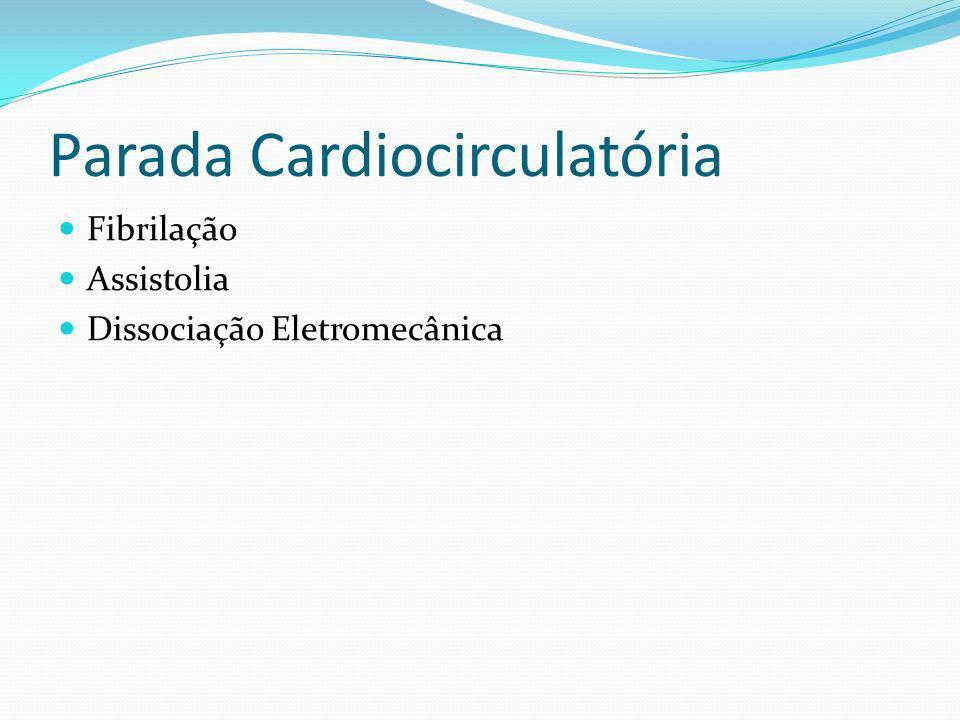 Parada Cardiocirculatória Fibrilação Assistolia Dissociação Eletromecânica