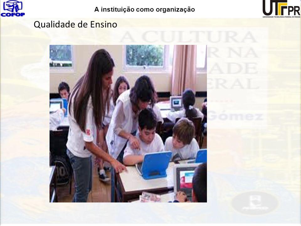 A instituição como organização Qualidade de Ensino