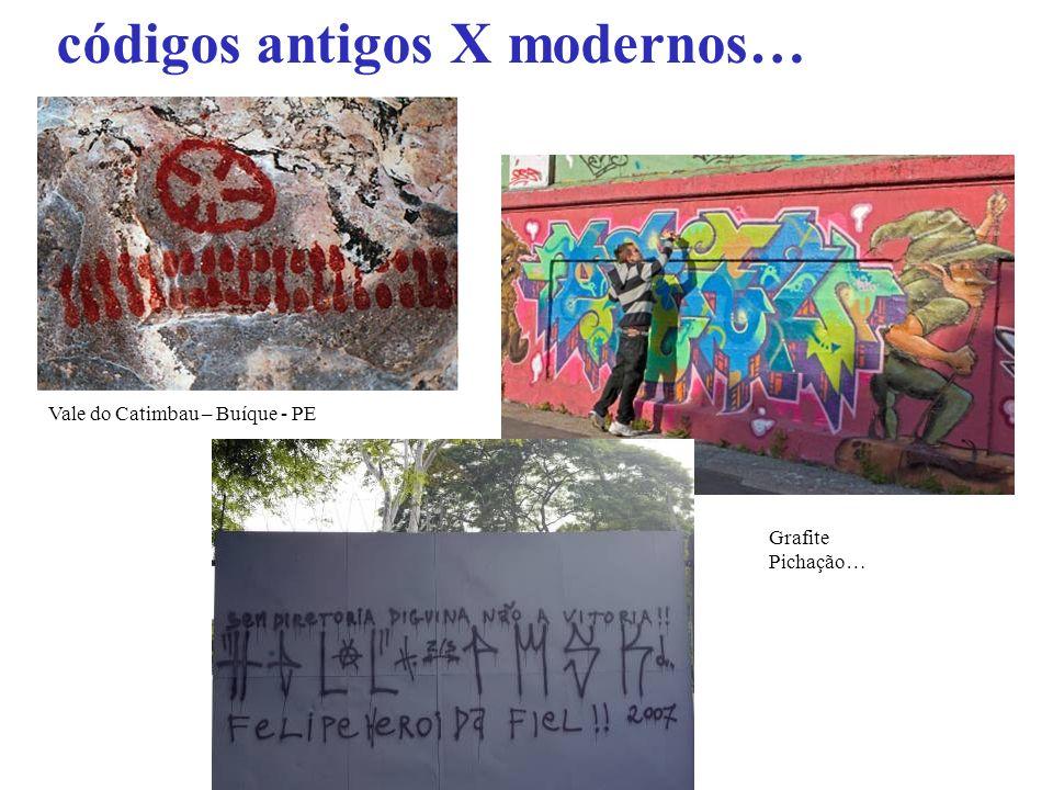 códigos antigos X modernos… Vale do Catimbau – Buíque - PE Grafite Pichação…