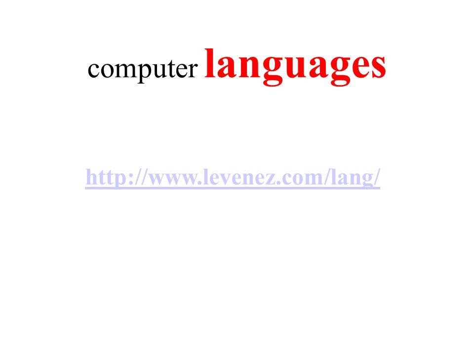 computer languages http://www.levenez.com/lang/