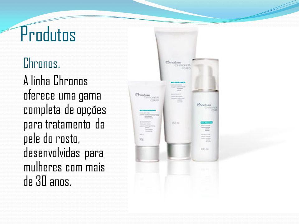Produtos Chronos. A linha Chronos oferece uma gama completa de opções para tratamento da pele do rosto, desenvolvidas para mulheres com mais de 30 ano