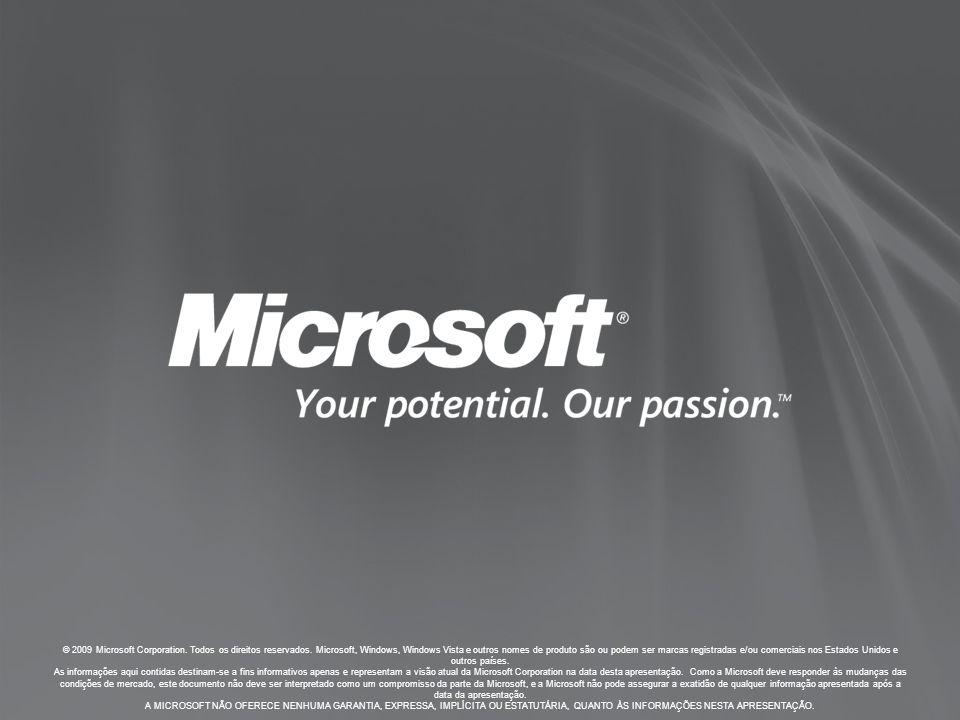 © 2009 Microsoft Corporation.Todos os direitos reservados.