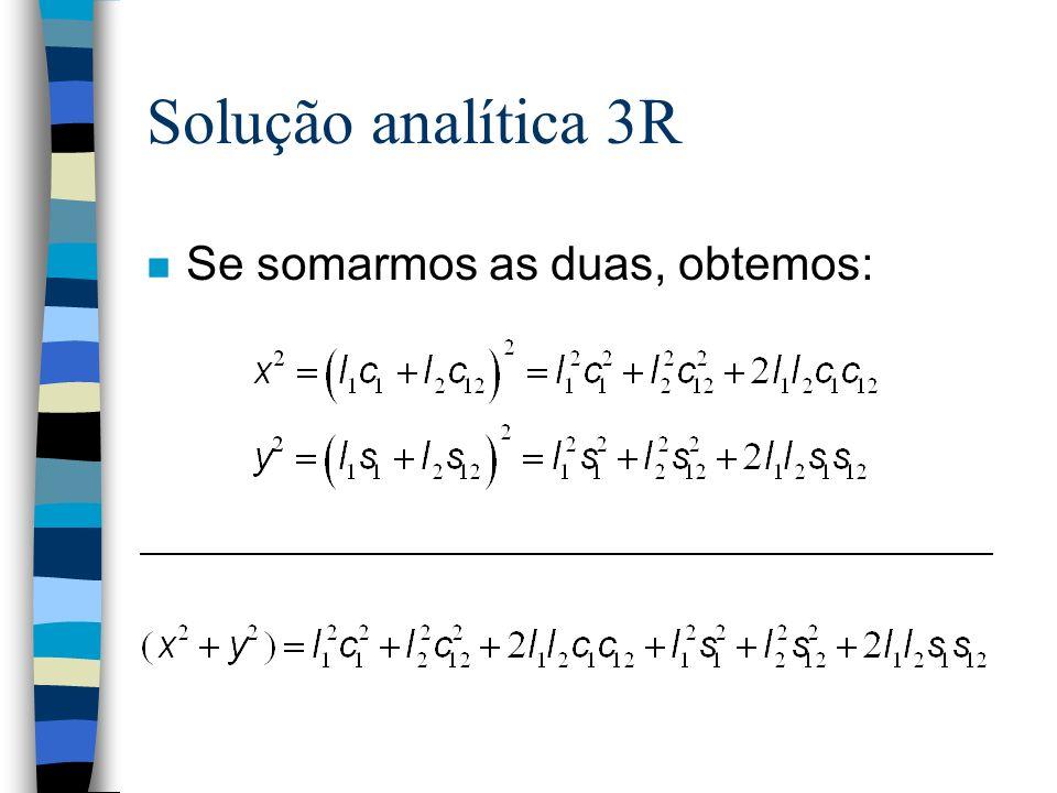 Solução analítica 3R n Se somarmos as duas, obtemos: