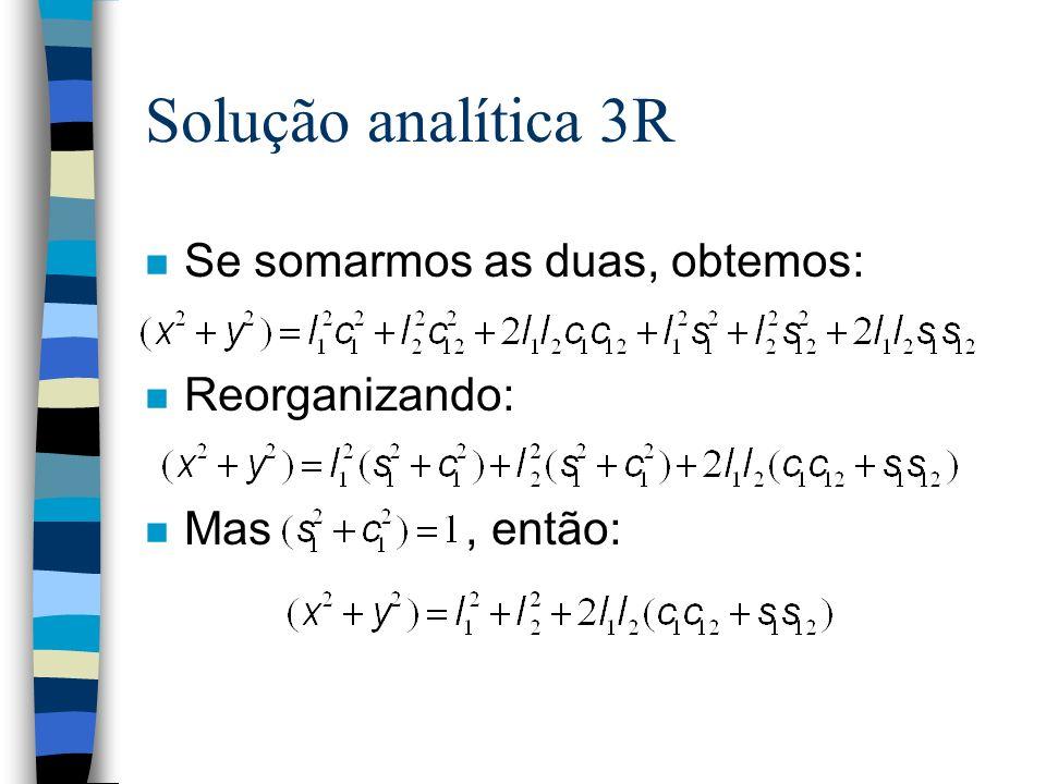Solução analítica 3R n Se somarmos as duas, obtemos: n Reorganizando: n Mas, então: