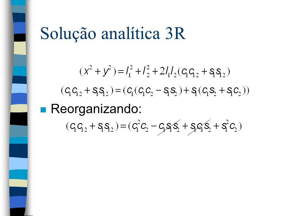 Solução analítica 3R n Reorganizando: