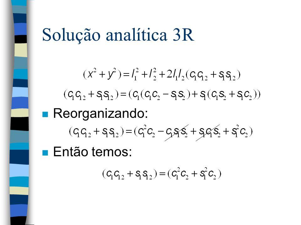 Solução analítica 3R n Reorganizando: n Então temos: