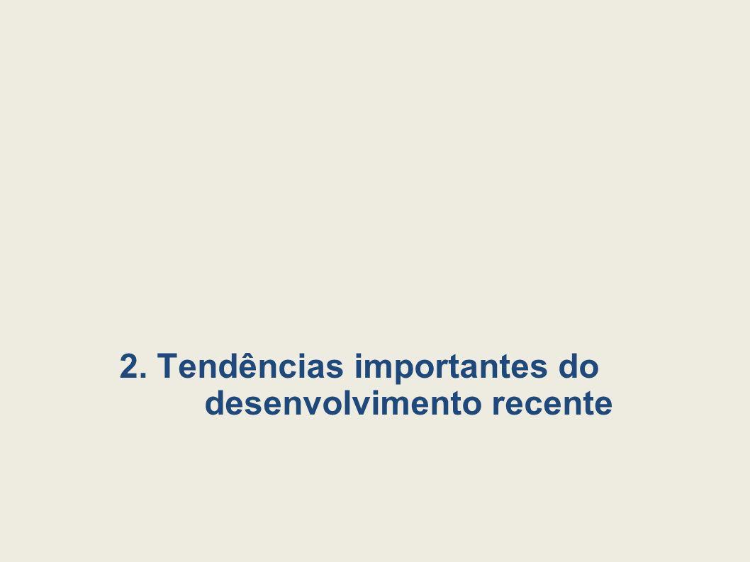 2. Tendências importantes do desenvolvimento recente