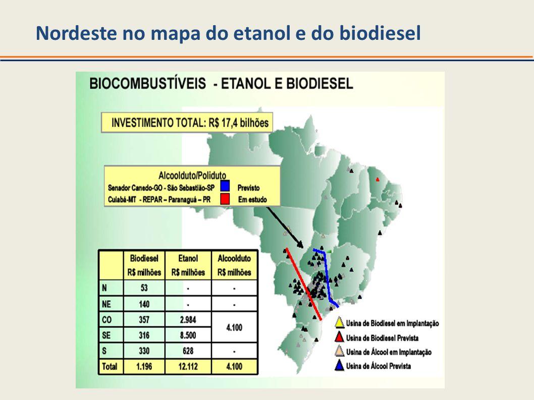 Nordeste no mapa do etanol e do biodiesel