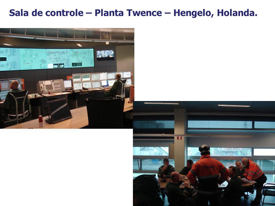 12 Sala de controle – Planta Twence – Hengelo, Holanda.