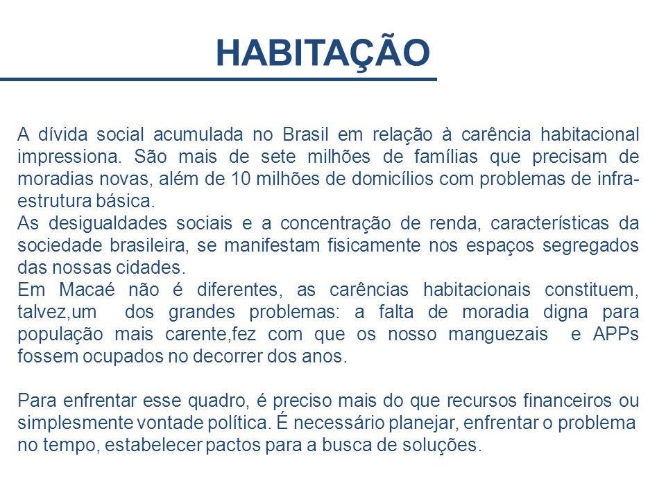 HABITAÇÃO A dívida social acumulada no Brasil em relação à carência habitacional impressiona. São mais de sete milhões de famílias que precisam de mor