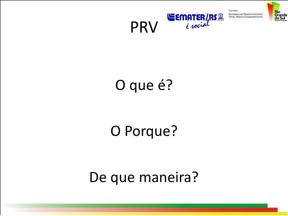 PRV O que é? O Porque? De que maneira?
