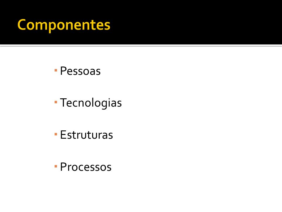 Pessoas Tecnologias Estruturas Processos