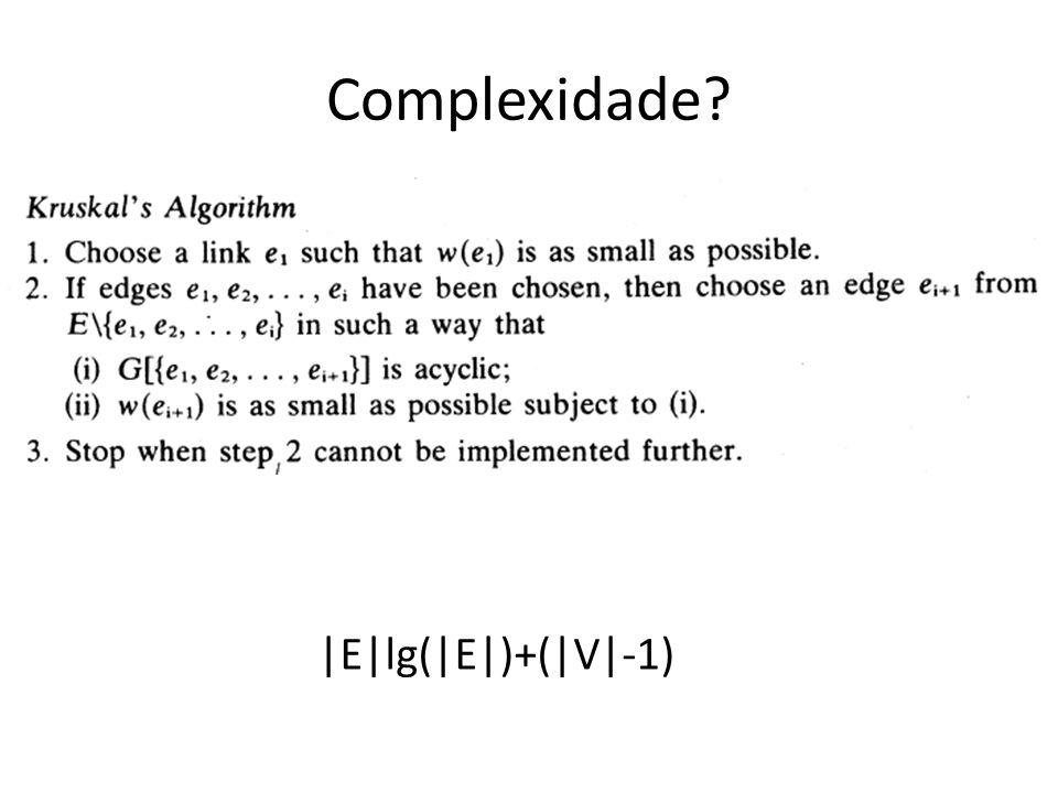 |E|lg(|E|)+(|V|-1)