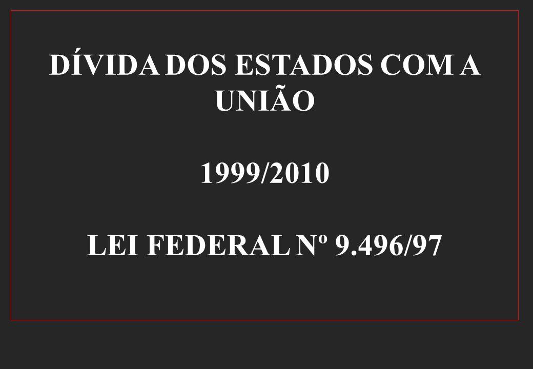 DÍVIDA DOS ESTADOS COM A UNIÃO 1999/2010 LEI FEDERAL Nº 9.496/97