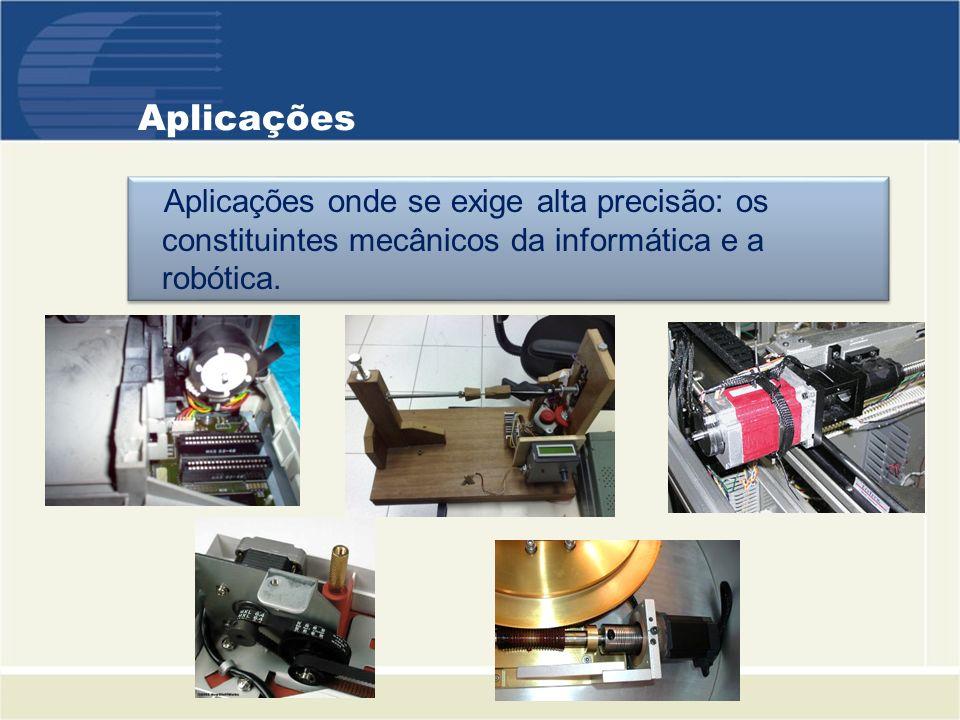 Motores Mais Comuns Motor12345 Graus/passo0,9º1,8º3,6º7,5 º15º Passos/volta4002001004824