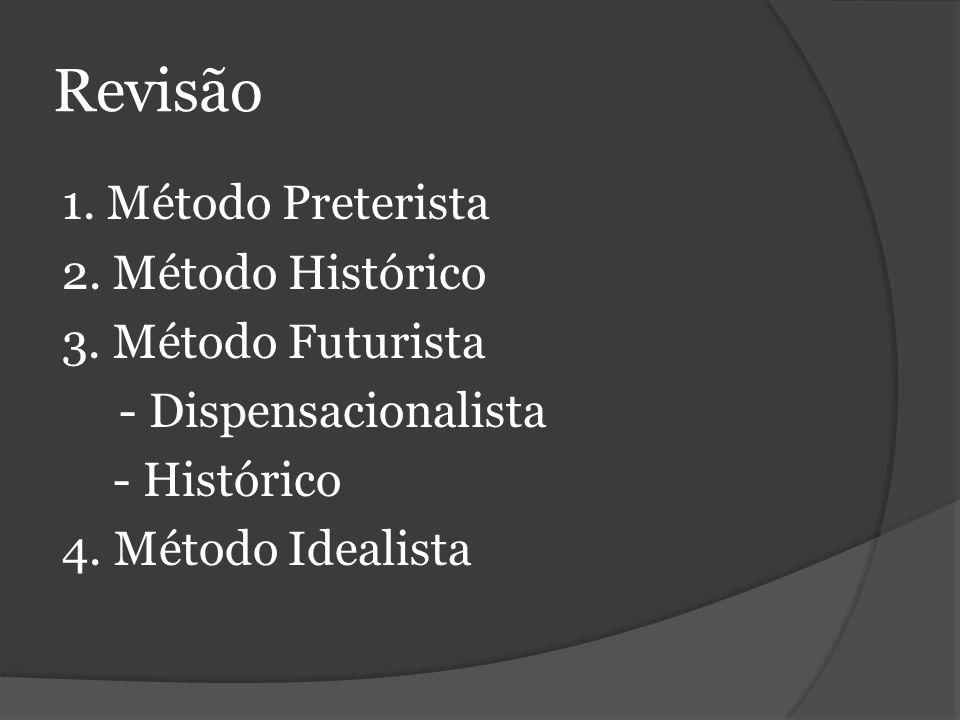 Revisão 1.Método Preterista 2. Método Histórico 3.
